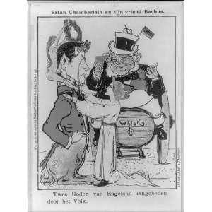 Dutch cartoon showing Joseph Chamberlain as Satan,John