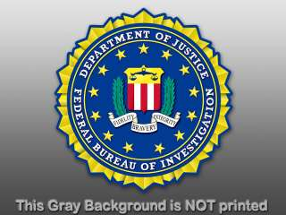 FBI Seal Sticker  window decal stickers logo us justice