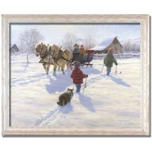 Grand Days Sleigh Ride Horse Robert Duncan Framed Print