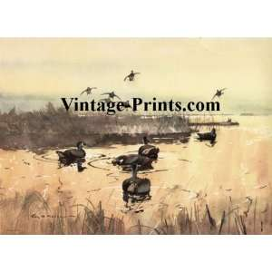 Roy Martell Mason Duck Hunting Print   Gathering of the Clan