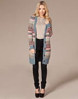 Lola Long Knit Cardigan   Only   Gray/blue   Jumpers & cardigans