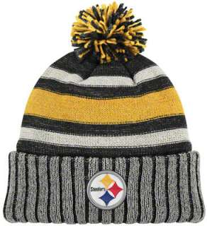 Pittsburgh Steelers Throwback Knit Hat Vintage Cuffed Pom Knit