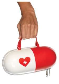 carry all of her medical supplies in this leg avenue nurse pill purse