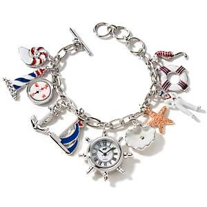 Heidi Daus Sea Fistication Crystal Accented Charm Bracelet