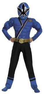 Kids Muscle Blue Ranger Samurai Costume   Power Ranger Costumes