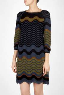 Missoni  Long Sleeved Boat Neck Dress by M Missoni