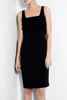 Moschino Cheap & Chic  Black Bow Back Crepe Shift Dress by Moschino