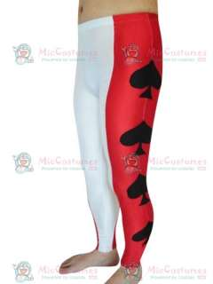Red And White Heart shaped Pattern Spandex Pants