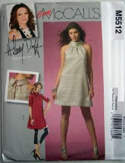 , LEGGINGS Misses 10 12 14 16 Hilary Duff Sewing Pattern m5512