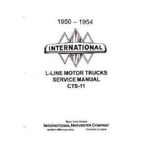 1951 1952 1953 1954 INTERNATIONAL L R Service Manual