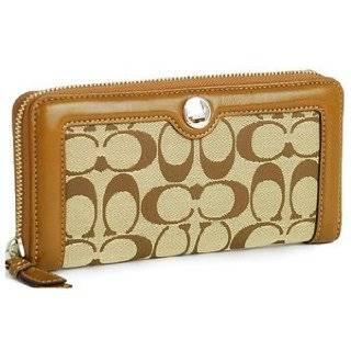 COACH SUTTON SKINNY WALLET CARD CASE (Khaki/Silver) Clothing