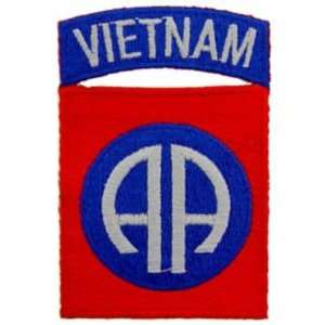 Vietnam 82nd Airborne Patch Blue & Red 3 Patio, Lawn