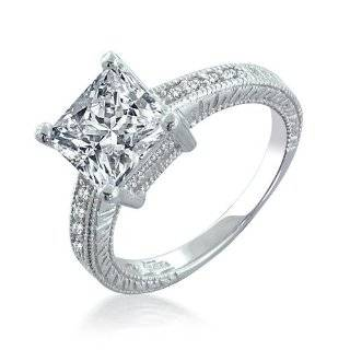 Jewelry Antique Cushion Cut CZ Double Shank Engagement Ring 4 [Jewelry
