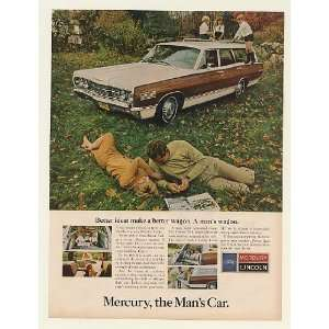 1967 Mercury Colony Park Station Wagon the Mans Car Print Ad (50629