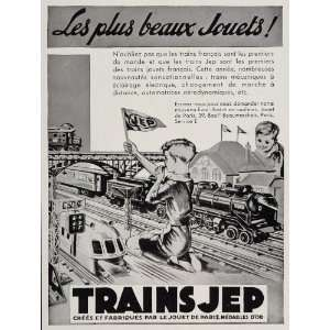 1935 Vintage Ad JEP French Model Train Set Toy Railroad