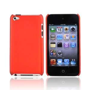 For Apple iPod Touch 4 Rubberized Hard Case ORANGE