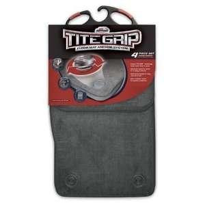 Auto Expressions Tite Grip Grey Carpet Universal Fit Floor Mats   Set