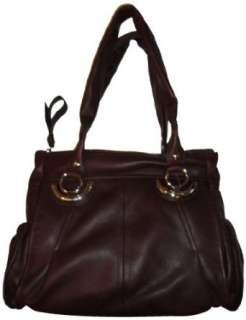 Womens B Makowsky Leather Purse Handbag Bucharest Tote