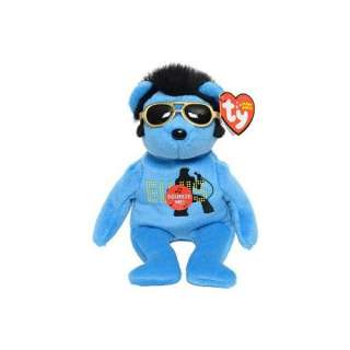 Ty Beanie Babies Blue Singing Teddy Bear Featuring Elvis  Toys