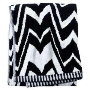 for target black white zig zag famiglia bath towel home kitchen