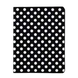 Black and White Polka Dot Pattern PU Leather Case For iPad
