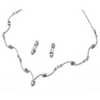 Bridal Jewelry Set, Austrian Crystal Necklace & Earring Set for