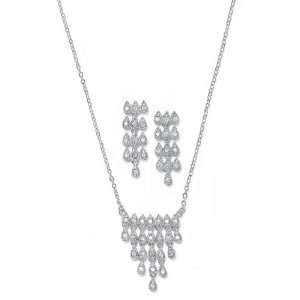 Bridesmaid or Bridal Necklace & Earrings Set 2047SBL