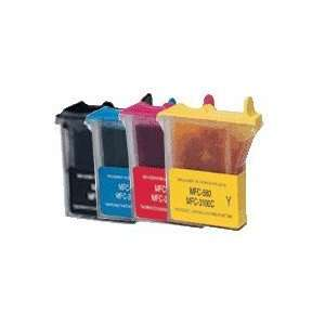 Brother LC 21 Compatible Cartridge Value Pack, 4 Colors, Brother MFC