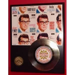BUDDY HOLLY GOLD RECORD LIMITED EDITION DISPLAY