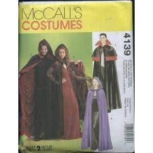 Patterns M4139 Misses/Mens/Teen Boys Lined and Unlined Cape