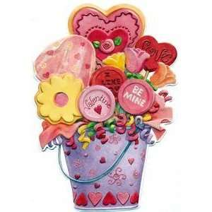 Valentines Day Greeting Card   Flower and Heart Lollipop