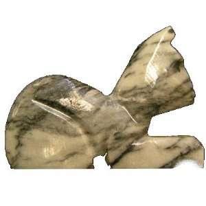 Onyx Cat 01 Crystal Black White Kitty Healing Figurine Statue Stone 3