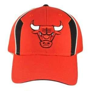 NBA CHICAGO BULLS RED BLACK HAT CAP COTTON VELCRO NEW
