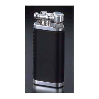 Chrome With Black Leather Cigarette Lighter Sports & Outdoors