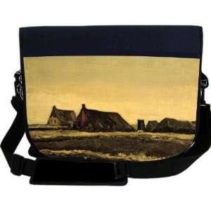 Van Gogh Art Cottages NEOPRENE Laptop Sleeve Bag Messenger