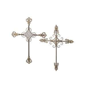 Wrought Iron Renaissance Wall Art Crosses 30 Home & Kitchen
