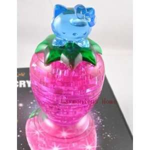 hello kitty 3d crystal puzzles 47pcs with flashing light