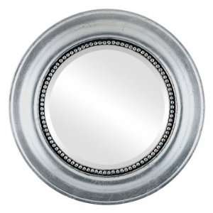 Heritage Circle in Silver Leaf with Black Antique Mirror