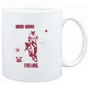 Mug White  HARD WORK Cycling  Sports Sports & Outdoors
