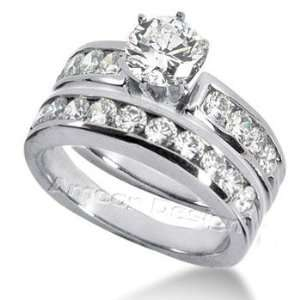 14K White Gold Round Cut Diamond Matching Bridal Set (2.62ct.tw, HI