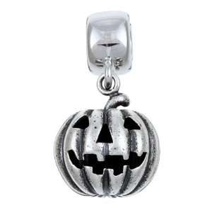 Sterling Essentials Sterling Silver Pumpkin Dangle Charm Jewelry