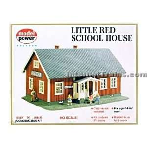 Model Power HO Scale Little Red School House Building Kit