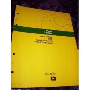 John Deere 220 Auger Platform OEM Parts Manual John Deere Books