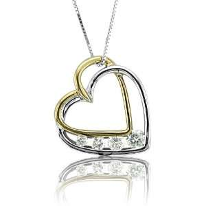 Diamond Heart Pendant Necklace (GH, I1 I2, 0.40 carat) Diamond