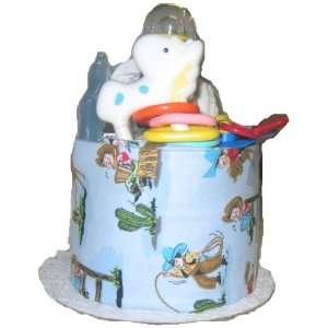 1 Tier Cowboy Baby Diaper Cake Baby