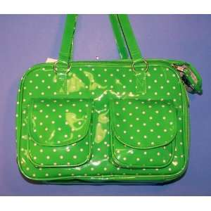 Dog Carrier   Fully Enclosed Patent Vinyl Polka Dots Pet Carrier