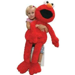 Oversized Sesame Street Soft and Silky Plush Elmo Doll