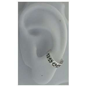 Silver Left Or Right Multiple Peace Symbol Sign Ear Cuff Jewelry