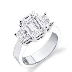 5.14 Ct. Emerald Cut Diamond Engagement Ring(EGL Certified