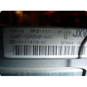Engine Computer ECU  EXPLORER 02 Elec Cont Unit (ECU); 4
